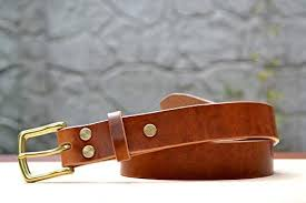 english tan leather belt