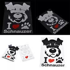 Vova 1 Pcs Schnauzer Car Sticker Car Decoration Accessories Cute Puppy Sticker Decal