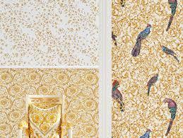 barocco birds wallpaper with fl