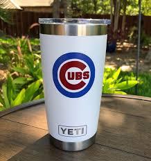 Chicago Cubs Yeti Tumbler 20oz Tumbler Groomsmen Gift Cubs Etsy