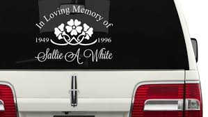 In Loving Memory Car Decal Mother Aunt Decal In Loving Etsy