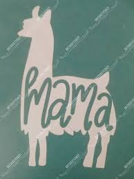 Cute Funny Mama Llama Silhouette Adhesive Vinyl Decal For Etsy