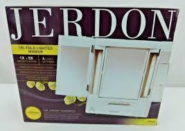 jerdon jgl12w trifold led lighted 5x 1x
