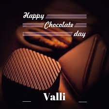 valli happy chocolate day greeting card your
