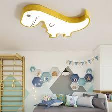Metal Dinosaur Flush Mount Lighting Cartoon Led Kids Room Ceiling Light Fixture Beautifulhalo Com