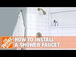 how to install a shower faucet the