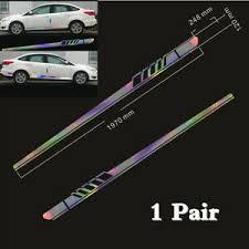 1 Pair Laser Reflective Car Body Long Stripe Graphics Decal Sticker Kits Vinyl Ebay