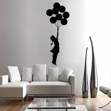Shop Full Color Girl With Baloons Flu Away Full Color Wall Decal Sticker Sticker Decal Size 44x70 On Sale Overstock 14820378