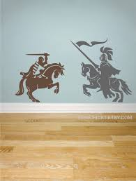 Knights Wall Decals Set Of 2 Knights On Horses Medieval Wall Decor Boy Wall Decals Wall Decals For Boys K Boys Wall Decals Kid Room Decor Wall Decals