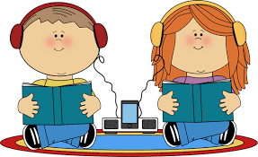 Kids listening to books from MyCuteGraphics | Imagenes infantiles ...