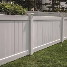 Freedom Ready To Assemble Bolton 4 Ft H X 8 Ft W White Vinyl Flat Top Fence Panel In The Vinyl Fence Panels Department At Lowes Com