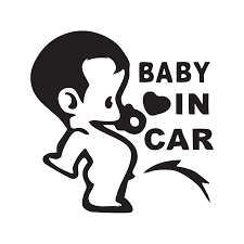 Car Decal Baby In Car Cardecals Shop