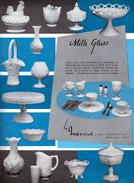 1958 imperial milk glass ad