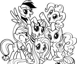 My Little Pony Coloring Pages Black And White