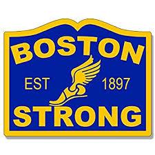 Boston Marathon Flag Vinyl Decal Sticker Bottles Car Window Bumper Decor