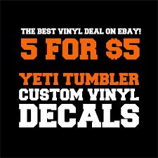 Personalized Yeti Rambler Tumbler Cup Custom Decal Vinyl Sticker Rtic Coleman