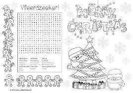Placemat Kerstontbijt Groep 5 Kerstwerkbladen Kerstmis Kleurplaten