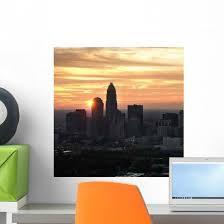 Charlotte Nc Skyline Wall Decal Wallmonkeys Com