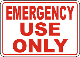 Emergency Use Only Sign A5176 By Safetysign Com