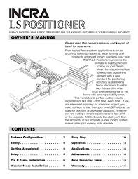Ls Positioner Owner S Manual