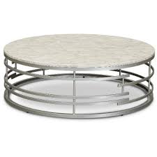 ultra modern round glass coffee table