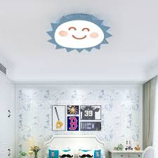 Smiling Sun Led Flush Ceiling Light Kids Candy Colored Ceiling Lamp With Third Gear White Lighting For Bedroom Takeluckhome Com