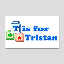 Baby Name Tristan Wall Decals Cafepress