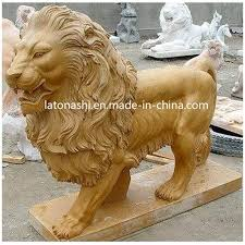 china large yellow marble stone carving