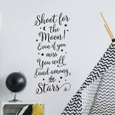 Shoot For The Moon Vertical Wall Decal Old Barn Rescue