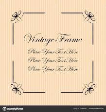 Vintage Decorative Frame Elegant Ornamental Template For Design