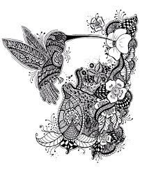 black and white ornamented hummingbird