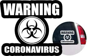 Amazon Com Coronavirus Covid 19 Vinyl Decal Sticker For Bumper Car Windows Truck Wall Laptop Cell Book Bike Cup 4x4 Off Road Boat Motorcycle Rv Trailer Designs 1 Arts Crafts Sewing