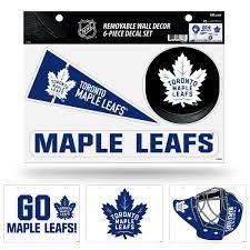 Toronto Hockey Maple Leafs Set Of 6 Removable Wall Decal Stickers Walmart Com Walmart Com
