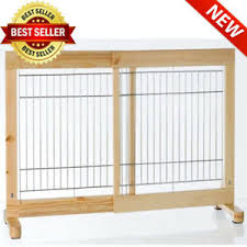 Freestanding Stair Pet Barrier Dog Gate Expanding Fence Outdoor Indoor Door New Ebay