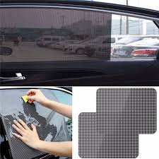 Kongyide Car Sunshade 2pcs Car Rear Window Side Sun Shade Cover Block Static Cling Visor Shield Screen Sticker Mar5 Side Window Sunshades Aliexpress