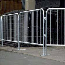 China Hot Dipped Galvanized Temporary Barricade Fence Metal Crowd Control Barrier For Sale China Barricade Fence Temporary Barrier