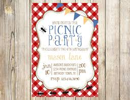 Picnic Birthday Party Invitation By Emmyjosparties On Etsy Https