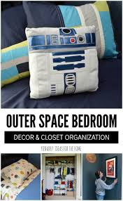 Outer Space Bedroom Decor And Closet Organization