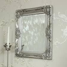 ornate silver wall mirror melody maison
