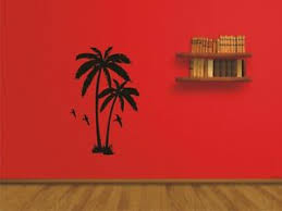 Palm Tree Large Wall Sticker Vinyl Art Wall Decal Mural Art Ebay