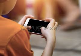hands playing video games on cell phone