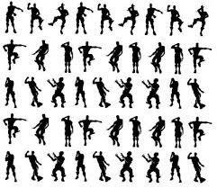 45x 2 4 5cm Like Fortnite Vinyl Decal Black Silhouette Stickers Baubles Small 4 99 Picclick Uk