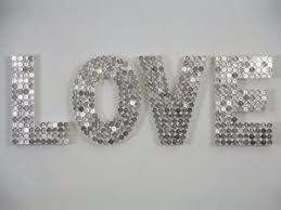 Start Collecting Your 5c Pieces For This Bling Bling Wall Art Diy Valentine S Day Decorations Valentine S Day Diy Crafts