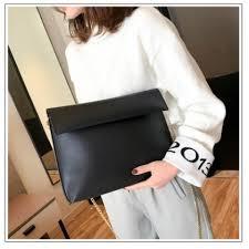soft leather large envelope clutch purse