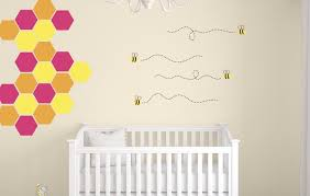 Honeycomb Wall Decals Bee Wall Decals Bumble Bee Wall Decals Nursery Wall Decal Bee Vinyl Decals Honeycomb Decals Tweet Heart Home Design