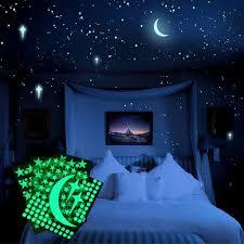 Follure 3d Stars Glow In The Dark Luminous Fluorescent Wall Stickers Kids Bedroom Walmart Com Walmart Com