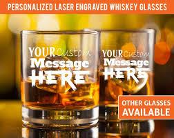 personalized whiskey glasses custom
