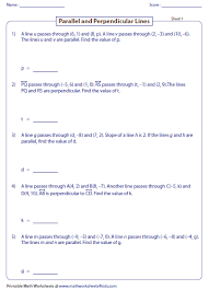 intersecting lines worksheets
