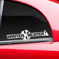 Winter Beater Funny Car Truck Window Decal Bumper Sticker Jdm Clunker Rear Window Car Sticker Car Stickers Aliexpress