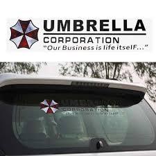 Vodool Car Styling Accessories Umbrella Corporation Car Front Rear Windshield Decal Auto Window Sticker High Quality Car Styling Windshield Decalauto Sticker Aliexpress